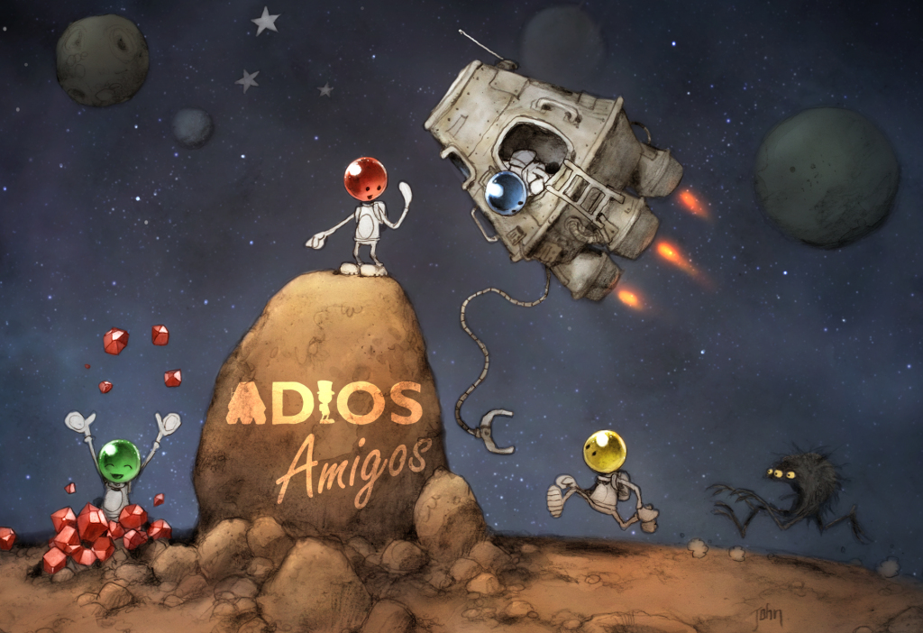 ADIOS Amigos Key Art